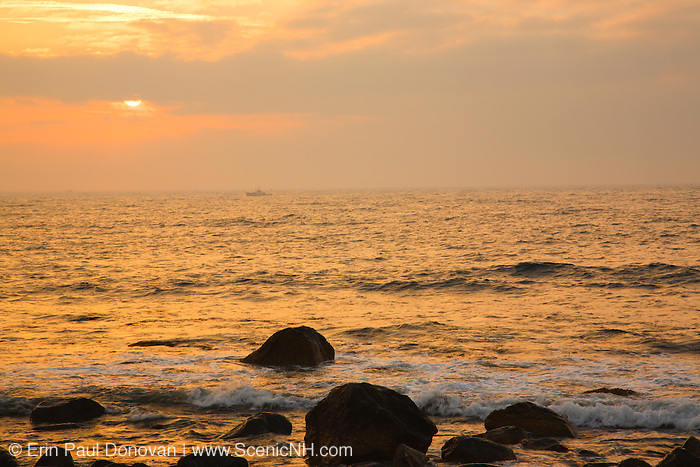 Sunrise from Rye Harbor State Park in Rye, New Hampshire.