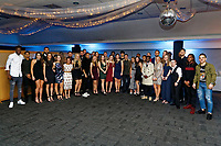 Pictured: The men's and ladies teams<br /> Re: Swansea City FC Christmas party at the Liberty Stadium, Wales, UK. Thursday 14 December 2017
