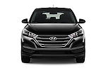 Car photography straight front view of a 2018 Hyundai Tucson SE 5 Door Suv Front View