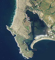 aerial photo map of Bodega Bay, California