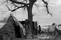 Mornei IDP camp, West Darfur, August 8, 2004.This huge camp shelters more than 75 000 IDP's, mostly women and children.