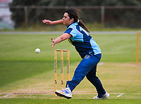Action from the Joy Lamason One Day Wellington premier women's division one cricket match between Johnsonville and Wellington Collegians  at Alex Moore Park in Wellington, New Zealand on Saturday, 5 December 2020. Photo: Dave Lintott / lintottphoto.co.nz