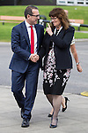 © Joel Goodman - 07973 332324 . SUBMIT PHOTO . MANCHESTER EVENING NEWS ONLY - NO SYNDICATION PERMITTED . 15/08/2016 . Salford , UK . Labour leadership candidate OWEN SMITH arrives and is greeted by University Vice Chancellor HELEN MARSHALL (r) to deliver a speech on the National Health Service , at the Mary Seacole Building at Salford University . Photo credit : Joel Goodman