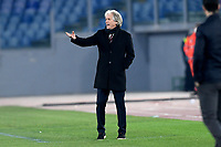 18th February 2021, Rome, Italy;   Jorge Jesus manager of SL Benfica during the UEFA Europa League round of 32 Leg 1 match between SL Benfica and Arsenal at Stadio Olimpico, Rome, Italy on 18 February 2021.