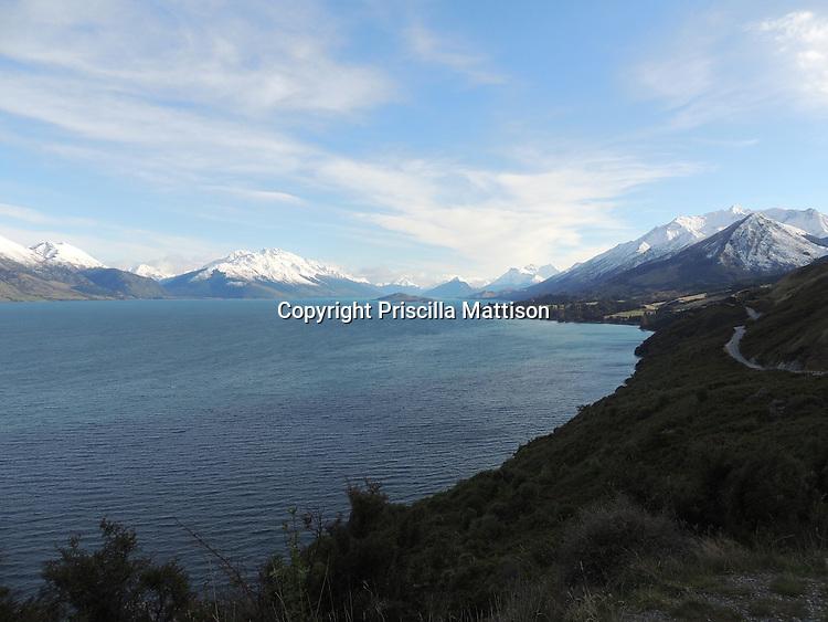 Lake Wakatipu, New Zealand - September 13, 2012:  The Remarkables rise above Lake Wakatipu.