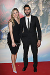 Spanish football player Alvaro Arbeloa and his girlfriend attend the photocall of the party of the movie The Amazing Spirdeman 2 at the residence of the Ambassador of United States of America in Madrid. April 10, 2014. (ALTERPHOTOS/Carlos Dafonte)