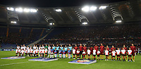 Football Soccer: UEFA Champions League  AS Roma vs PFC CSKA Mosca Stadio Olimpico Rome, Italy, October 23, 2018. <br /> Roma's and CSKA Mosca teams line up prior to the Uefa Champions League football soccer match between AS Roma and PFC CSKA Mosca at Rome's Olympic stadium, October 23, 2018.<br /> UPDATE IMAGES PRESS/Isabella Bonotto