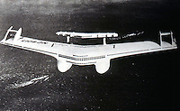 Utopia:  Transport of the Future--Model of transoceanic passenger plane, c. 1929--a 528 ft. wingspan!.  Norman Bel Geddes.  YESTERDAY'S TOMORROWS.