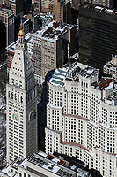 aerial photograph Metropolitan Life Insurance Company Tower and Sony Square, Manhattan, New York City after a snow storm