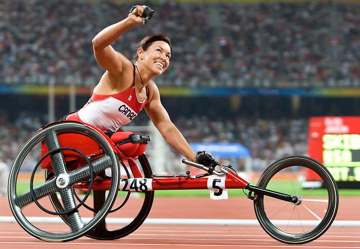 Chantal Petitclerc, Beijing 2008 - Para Athletics // Para-athlètisme.<br /> Chantal Petitclerc competes in the 400 m t-54 // Chantal Petitclerc participe au 400 m t-54. 09/12/2008.