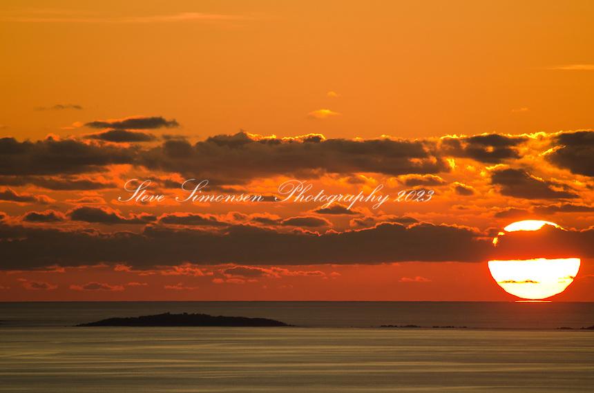 Sunrise over Fallen Jerusalem in the BVI<br /> Virgin Islands
