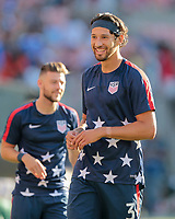 Cleveland, OH - Saturday July 15, 2017: Omar Gonzalez during a 2017 Gold Cup match between the men's national teams of the United States (USA) and Nicaragua (NCA) at FirstEnergy Stadium.