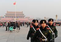 CHINA Beijing, Tiananmen square, Mausoleum of Mao Zedong ( Mao Tse-Tung ) / CHINA Peking Beijing Platz des himmlischen Frieden Tiananmen Platz , Mausoleum des KP Fuehrer Mao Zedong ( Mao Tse-Tung )