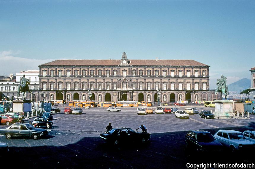 Italy: Naples--Royal Palace, c. 1600-1650; 1837. Design by Domenko Fontana. Photo '83.