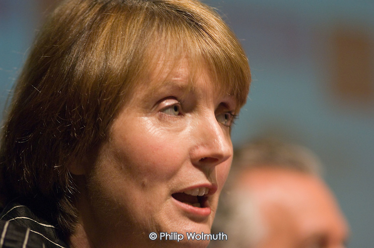 Harriet Harman MP speaks at a Fabian Society hustings meeting for candidates for the deputy leadership of the Labour Party.