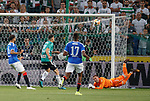 22.08.2019 Legia Warsaw v Rangers: Allan McGregor saves in the second half