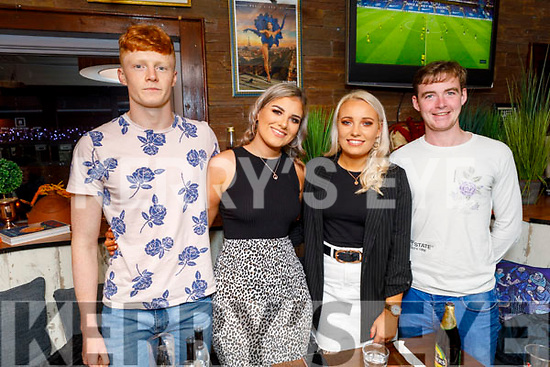 Dermot Murphy, Aoife Leen, Tracey O'Keeffe and Jack Healy enjoying the evening in Benners Hotel on Saturday.