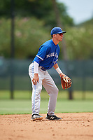 GCL Blue Jays shortstop Jordan Groshans (10) during a game against the GCL Phillies East on August 10, 2018 at Carpenter Complex in Clearwater, Florida.  GCL Blue Jays defeated GCL Phillies East 8-3.  (Mike Janes/Four Seam Images)