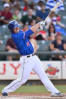 Round Rock Express third baseman Ryan Rua (12) during pacific coast league baseball game, Saturday August 16, 2014 in Round Rock, Tex. Tacoma Rainiers win game one of the best of four series 8-7. (Mo Khursheed/TFV Media via AP Images)