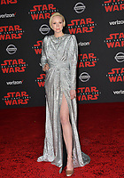 """Gwendoline Christie at the world premiere for """"Star Wars: The Last Jedi"""" at the Shrine Auditorium. Los Angeles, USA 09 December  2017<br /> Picture: Paul Smith/Featureflash/SilverHub 0208 004 5359 sales@silverhubmedia.com"""