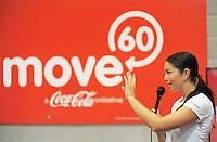 Sarah Walker. Move60 promotion at Te Rauparaha Arena, Porirua, Wellington, New Zealand on Saturday, 5 April 2014. Photo: Dave Lintott / lintottphoto.co.nz