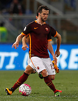 Calcio, Serie A: Roma vs Fiorentina. Roma, stadio Olimpico, 4 marzo 2016.<br /> Roma's Miralem Pjanic celebrates after scoring during the Italian Serie A football match between Roma and Fiorentina at Rome's Olympic stadium, 4 March 2016.<br /> UPDATE IMAGES PRESS/Riccardo De Luca