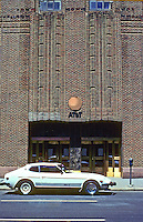 """New York: AT&T Long LInes, 1932. Formerly New York Telephone Co. Building. """"High Art Deco"""" by Ralph Walker (McKenzie, Voorhees & Gmelin) Photo '91."""