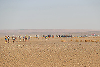 4th October 2021; Tisserdimine to Kourci Dial Zaid;  Marathon des Sables, stage 2 of  a six-day, 251 km ultramarathon, which is approximately the distance of six regular marathons. The longest single stage is 91 km long. This multiday race is held every year in southern Morocco, in the Sahara Desert. Competitors begin the race 2 stage