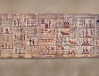 Ancient Egyptian Book of the Dead papyrus - Ptolemaic Period (722-30BC).Turin Egyptian Museum.