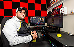 MERIDEN, CT-010721JS05- Michael Leonardi, a member of the U.S. Army's ESports team, in his game room of his home in Meriden on Thursday. Leonardi is a professional gamer enrolling in Post University's new Bachelor of Science for ESports Management program that is expected to begin in 2021. <br /> Jim Shannon Republican-American