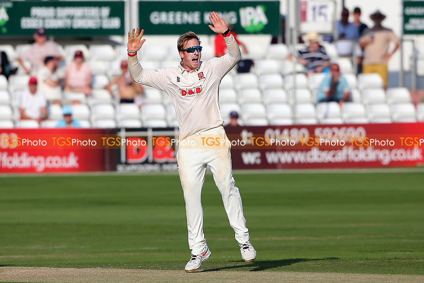 Simon Harmer of Essex appeals for a wicket during Essex CCC vs Gloucestershire CCC, LV Insurance County Championship Division 2 Cricket at The Cloudfm County Ground on 6th September 2021