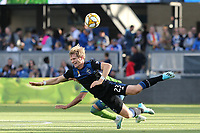 SAN JOSE, CA - SEPTEMBER 29: Florian Jungwirth #23 of the San Jose Earthquakes during a Major League Soccer (MLS) match between the San Jose Earthquakes and the Seattle Sounders on September 29, 2019 at Avaya Stadium in San Jose, California.