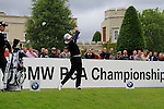 Jamie Donaldson (WAL) tees off on the 1st tee to start his round on Day 2 of the BMW PGA Championship Championship at, Wentworth Club, Surrey, England, 27th May 2011. (Photo Eoin Clarke/Golffile 2011)