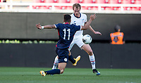 ZAPOPAN, MEXICO - MARCH 21: Henry Kessler #3 of the United States defending during a game between Dominican Republic and USMNT U-23 at Estadio Akron on March 21, 2021 in Zapopan, Mexico.