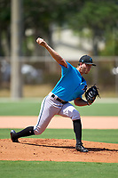 Miami Marlins pitcher Evan Brabrand (65) during a Minor League Spring Training camp day on April 28, 2021 at Roger Dean Chevrolet Stadium Complex in Jupiter, Fla.  (Mike Janes/Four Seam Images)
