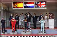 23rd May 2021; Principality of Monaco; F1 Grand Prix of Monaco,   Race Day;   VERSTAPPEN Max ned, Red Bull Racing Honda RB16B, portrait, podium with SAINZ Carlspa, Scuderia Ferrari SF21 and NORRIS Lando gbr, McLaren MCL35M during the 2021 Formula One World Championship