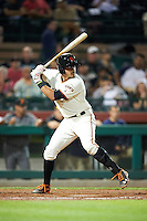 Scottsdale Scorpions Aramis Garcia (8), of the San Francisco Giants organization, during a game against the Salt River Rafters on October 12, 2016 at Scottsdale Stadium in Scottsdale, Arizona.  Salt River defeated Scottsdale 6-4.  (Mike Janes/Four Seam Images)