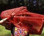 Bedouin Dancer, Red Scarf, Tribal female dancer