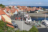 Hafen von Gudhjem auf der Insel Bornholm, Dänemark, Europa<br /> port of Gudhjem, Isle of Bornholm Denmark