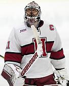 Merrick Madsen (Harvard - 31) - The visiting Colgate University Raiders shut out the Harvard University Crimson for a 2-0 win on Saturday, January 27, 2018, at Bright-Landry Hockey Center in Boston, Massachusetts.