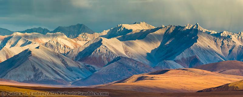 Panorama of the Philip Smith Mountains of the Brooks Range, Arctic, Alaska.