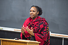 January 16, 2018;  MLK Event: Student Workshop with Bree Newsome. (Photo by Barbara Johnston/University of Notre Dame)