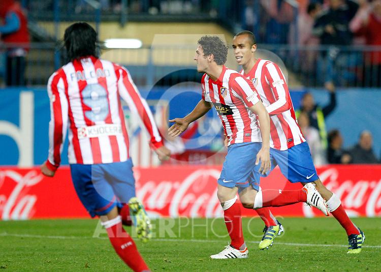 Madrid (05/05/2012).- Estadio Vicente Calderon..Liga BBVA.Atletico de madrid - Malaga Club de Futbol..Koke, Miranda...Photo: Alex Cid-Fuentes / ALFAQUI..