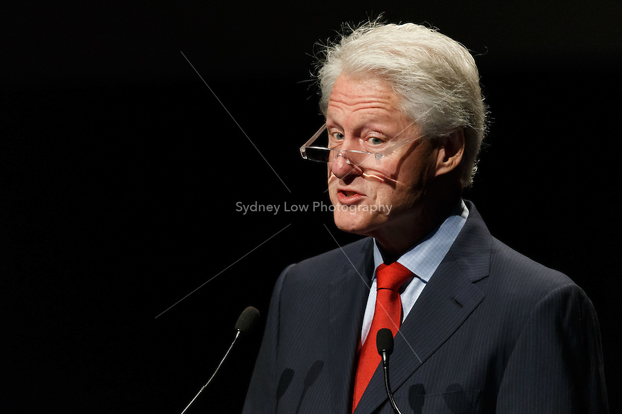 Former United States President Bill Clinton speaks at the 20th International AIDS Conference (AIDS 2014) at the Melbourne Convention and Exhibition Centre on 23 July 2014.
