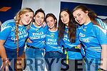 Five members of Junior Camogie All Ireland Final winning Kerry team, at the home coming in Causeway on Sunday night. L to r: Megan Weir (Finuge/St Senans), Julianne O'Keeffe (Lixnaw), Jessica Fitzell (Kilmoyley), Aine O'Connor (Ardfert) and Allanah Whelan (Ballyduff).