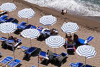 Strand in Sant' Angelo, Ischia, Italien