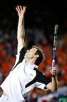 7-4-07, England, Birmingham, Tennis, Daviscup England-Netherlands, Greg Rusedski retires