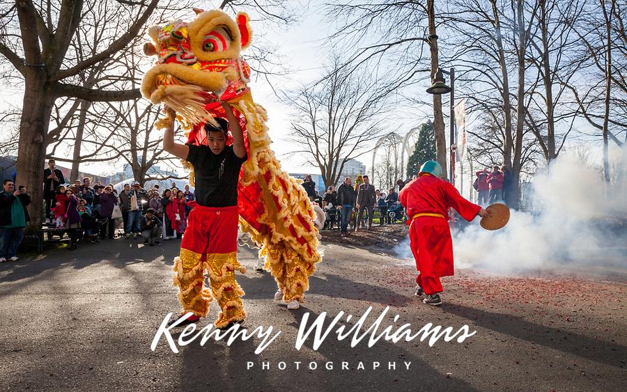 Lion Dance, Tet In Seattle,  Vietnamese New Year Festival 2019, Seattle Center, WA, USA.