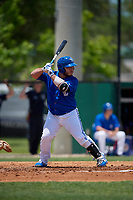 Dunedin Blue Jays Alejandro Kirk (26) at bat during a Florida State League game against the Jupiter Hammerheads on May 16, 2019 at Jack Russell Memorial Stadium in Clearwater, Florida.  Dunedin defeated Jupiter 1-0.  (Mike Janes/Four Seam Images)