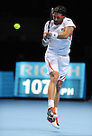 Janko Tipsarevik (SRB) loses at the ATP World Tour Finals being played at The 02 Arena in London, UK on November 8, 2012